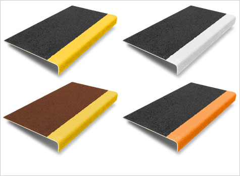 3. Stair Covers with hi-vis nosing and a wide range of custom colour options.