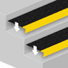 Anti-slip stair tread covers