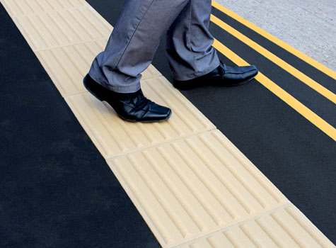 1. Anti-slip Tactile paving surfaces.