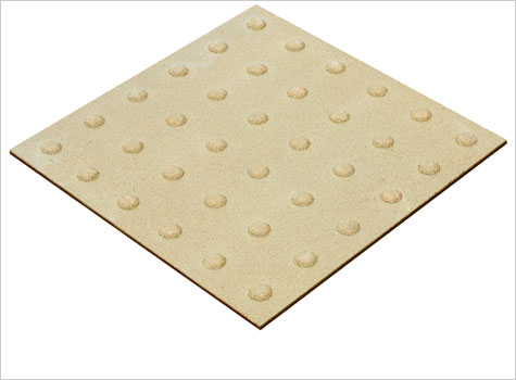 3. Blister On-street Tactiles indicates movement in this direction is safe.
