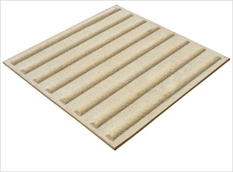 2. Corduroy Tactiles warns of hazards such as stairs or pedestrian crossings.