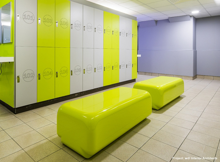 Modern Locker Room Bench Seating Specified For Fitness Gyms