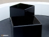 Cube black modular tables in black