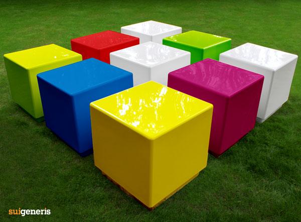 Cube Modular Seats And Tables Contemporary Fibreglass
