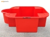 IBC spill pallet IBC spill containment in red plastic - catch leaks & drips