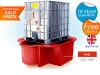 sg102_red_grp_plastic_single_ibc_spill_pallet_secondary_spill_containment_bundstand_in_red_sale