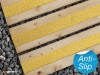 Anti-slip decking strips buff.