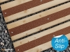 A range of colours and sizes decking strips.