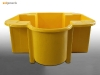 One IBC spill pallet spill containment in yellow by Sui Generis