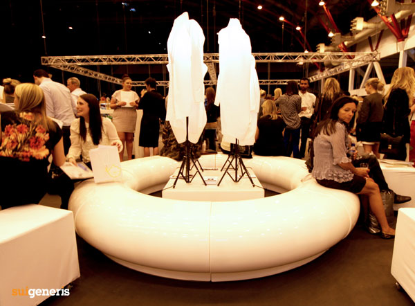 Halo seating was been chosen to create a modernistic look to Graduate Fashion Week, Earls Court, London