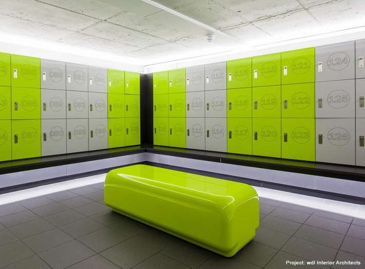 Modern Timber Changing Rooms