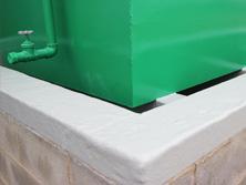Bund lining with GRP fibreglass