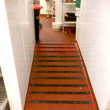 Decking strips floor safety