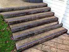 Decking strips for ramp