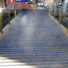 Decking strips on public pathways