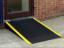 Anti-slip floor sheets for ramps
