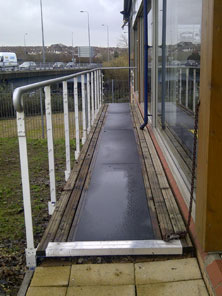 Anti-slip floor sheets for walkway