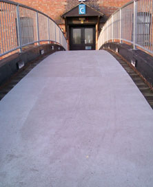 Anti-slip floor sheet for footbridge