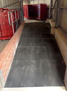 Floor sheets industrial installation