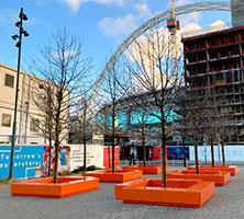 Wembley, orange Bench seating
