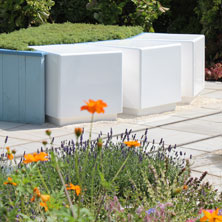 Cube seating at the RHS Flower Show