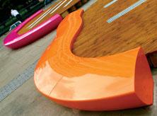 Serpentine seating London installation