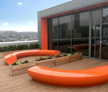 Serpentine Seating, Roof Terrace