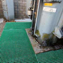 GRP Grating floor for generator area