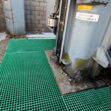 GRP Grating floor for generator area
