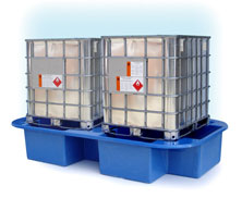 Double IBC spill containment bund