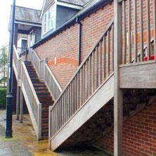 Stair nosings for slippery timber