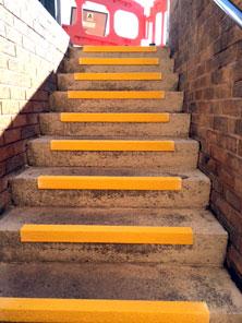 Stair nosings stairwell