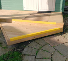 Stair nosings and decking strips