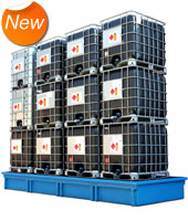 Store up to 12 IBC's.