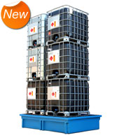 Store up to 6 IBC's.