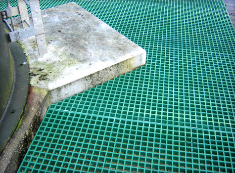 3. Fibreglass grating installation.