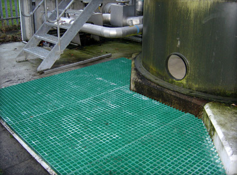 7. Fibreglass grating installation.