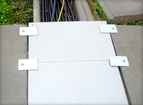3. GRP fibreglass grating cable trough covering