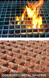 Corrosion, chemical resistant, fire resistant finishes