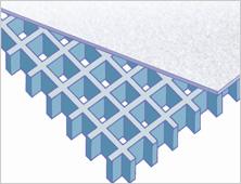 Covered fibreglass grating