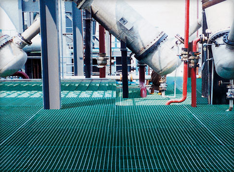 8. Grating for engineering environments, offshore facilities and industrial sites.