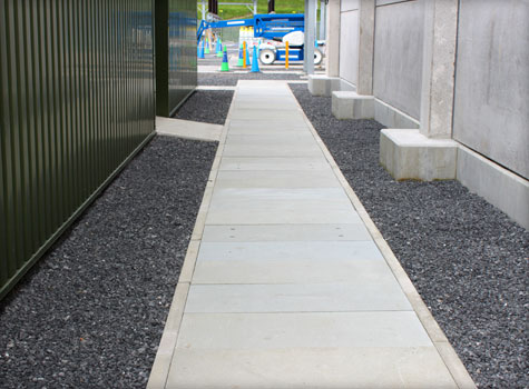 10. Covered top GRP Grating cable trough covers, replace concrete.