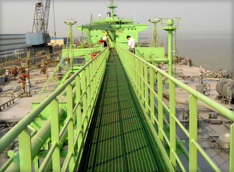 15. Anti-slip Grating for shipping environments and offshore facilities.
