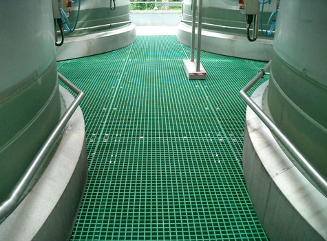 2. Open Mesh Grating factory walkway installation.