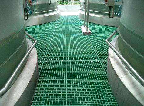 2. Open Mesh Grating factory walkway installation.
