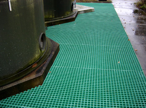 3. Slip-resistant Grating installed at a water treatment plant.