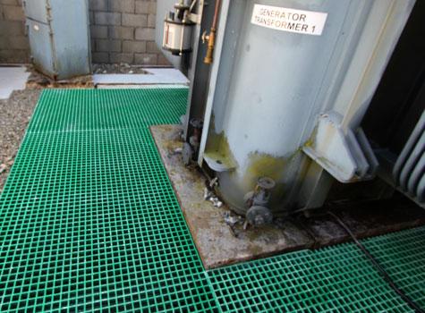3. Anti-slip Grating generator transformer installation.