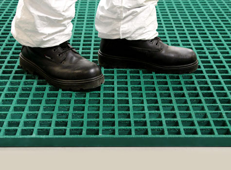 1. Anti-Slip gritted Grating for platforms, walkways, flooring & covers.