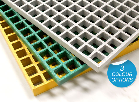 1. Fibreglass Grating for platforms, floorings, walkways & covers.