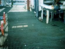 GRP grating platform